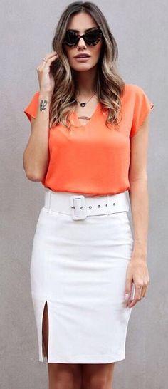 544e50e53 106 mejores imágenes de falda y blusa elegantes