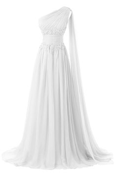 DINGZAN Applique Waist Chiffon One Shoulder Evening Prom Dresses Long Pageant ** You can get more details by clicking on the image. (This is an affiliate link and I receive a commission for the sales)