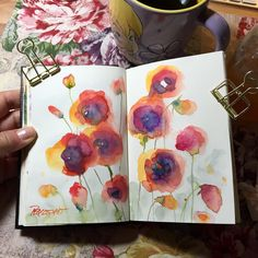 "657 Likes, 25 Comments - Kathleen Pequignot (@studio318) on Instagram: ""Hello August! Morning coffee, Tink, and wet-in-wet poppies. Stillman & Birn gamma mixed media…"""