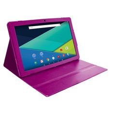 Visual Land Prestige Elite 13Q Quad Core 64GB 13.3-Inch Android 5 Lollipop Tablet with Profolio Case (ME13QTC64MAG), Dark Pink