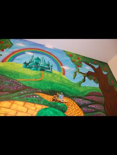 Look At The Other Examples Of My Children Murals! Contact Me If Interested.  I Use Acrylic Paint On Walls To Create Murals. Wizard Of Oz ...