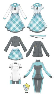 DA-Youkoso Uniform Design by Nyanfood on DeviantArt - DA-Youkoso Uniform Design by Nyanfood - Manga Clothes, Drawing Anime Clothes, Anime Outfits, Girl Outfits, Cute Outfits, Fashion Design Drawings, Fashion Sketches, Anime Uniform, Mode Kpop