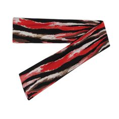 Stretchy Animal Print Scarf Headband, in beautiful red and black