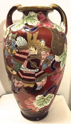 Japanese Satsuma Vase With Samurai