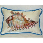 Found it at Wayfair - Coastal Conch Shell Indoor / Outdoor Pillow