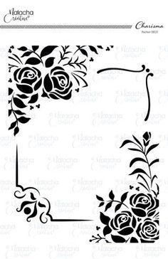 Voici des fleurs et bordures pour réaliser des coins de murs, meubles et plusieurs autres possibilités.