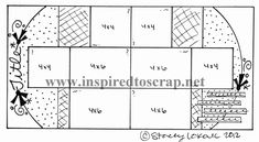 New sketch by Stacey Lokovic for Inspired to Scrap to scrap November's photos.