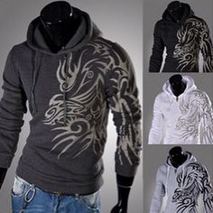 Brand New: Men's Winter Dragon Printed Hoodie Jacket. Design @ Immortalmastermind.com ($79.95) @ http://immortalmastermind.mybigcommerce.com/brand-new-mens-winter-dragon-printed-hoodie-jacket/
