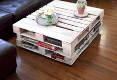 You can make a DIY coffee table with rustic wooden pallets you can put over glass on the wooden pallets . you could be made a brand new DiY pallet coffee table Indoor Furniture Design, Pallet Furniture Designs, Wooden Pallet Furniture, Wooden Pallets, Furniture Projects, Diy Furniture, Furniture Chairs, House Furniture, Pallet Wood