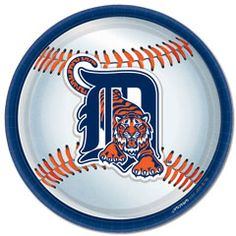 Detroit Tigers 9'' Plates from Windy City Novelties