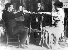 Victorian Parlor Games | Table tipping was a popular past time during the Spiritualist era