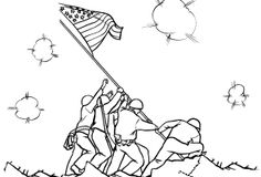 Famous Americans Coloring pages - Important People in US History Coloring Pages - Historic figures coloring: USA-Printables