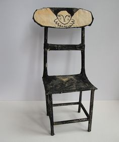 Beautiful handmade #chair - Lady of the house by #Cathy #Cullis Funky Furniture, Handmade Furniture, Unique Furniture, Painted Furniture, Furniture Design, Turbulence Deco, Painted Chairs, Take A Seat, Cool Chairs