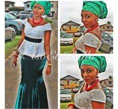 velvet lace aso ebi nigerian naija wedding