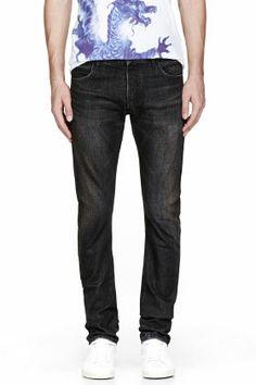 Balmain Black Faded Classic Jeans for men | SSENSE