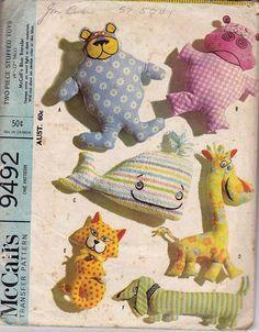 Giraffe Cat Hippo whale toys, cute ;) dog pattern