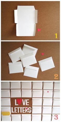 DIY Envelope Guest book Tutorial