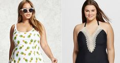 18 Plus-Size Swimsuits That'll Turn Heads At The Beach Plus Swimwear, Plus Size Swimsuits, Mirror Mirror, Slay, Tankini, 18th, Wallet, Beach, Summer