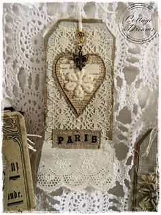 Paris ticket with a heart.