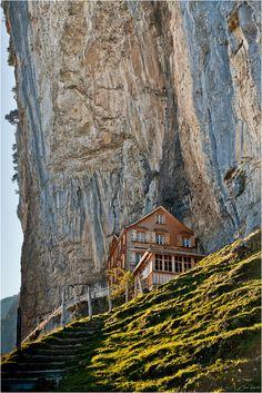 House in the Rocks, Aescher, Appenzell, Switzerland