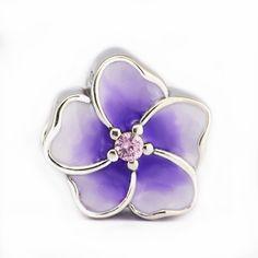 buy fits for pandora charms bracelets orchid beads pink cz pale purple enamel 100 925 #pink #orchid