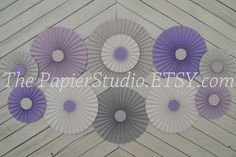 Lavender and Gray Set of Eleven 11 Paper by ThePapierStudio