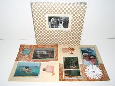 Cruise Beach Wedding Anniversary Vacation Scrapbook Album 12 by 12, 4 by 6 photo