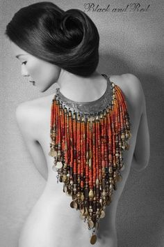 "Gorgeous.... Joyce Lewis says, ""I think I would turn it around and wear it down the front of my body."""