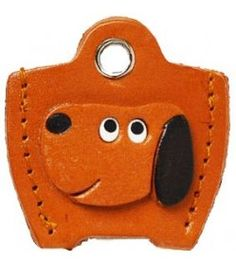 Leather Key Cover Cap Keychain Dog