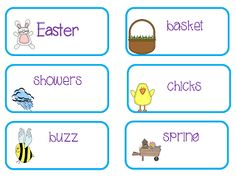 The Teacher's Treasure Chest: April Word Wall Freebie Cards