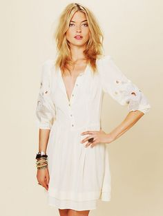 Free People Retro Sleeve Dress, 138.00