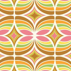 Kaleidoscope in Pink and Gold from Flock  by sewfreshfabrics, $3.95