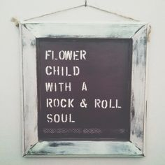 flower child, with a rock n roll soul