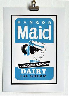 Welcome to Damn Fine Print Ice Cream Business, Belfast Northern Ireland, Ice Cream Brands, Little Corner, Bangor, Maid, Growing Up, Screen Printing, Childhood