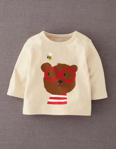 I've+spotted+this+@BodenClothing+Retro+Animal+Print+T-shirt+Crème+Caramel+Bear