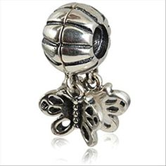 Butterfly Dangle 925 Sterling Silver Bead Fits Pandora Charms Europ Jewelry -- You can find more details by visiting the image link.
