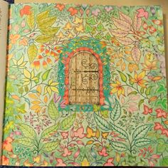 Another page from The Secret Garden Tattoo Coloring Book, Coloring Pages To Print, Coloring Books, Secret Garden Coloring Book, Doodle Art Journals, Garden Drawing, Black And White Painting, Cool Art Projects, Adult Coloring
