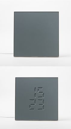 ETCH CLOCK is an innovative new clock that makes time appear as an engraving on a seemingly simple slate.