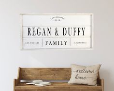 Excited to share this item from my shop: Family sign, custom sign, framed shiplap wood sign Wood Wedding Signs, Wood Signs, Shiplap Wood, Pantry Sign, Rustic Chair, Family Name Signs, Home Decor Signs, Inspirational Wall Art, Hand Painted Signs