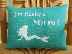 I'm Really a Mermaid pillow Ocean Mermaid by KelleysCollections