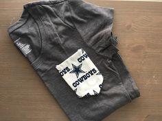 Dallas Cowboys Short Sleeve Pocket Tee, Women's NFL t-shirt by BeautifulChaosShoppe on Etsy https://www.etsy.com/listing/464087753/dallas-cowboys-short-sleeve-pocket-tee