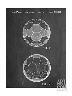 Soccer Ball Patent Art Print at Art.com