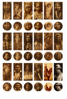 Native Americans by Edward Curtis Free Digital Bottle Cap Images by Folie du Jour
