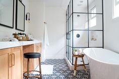 Peek inside Jasmine Tookes's stylish space. Boho Bathroom, Bathroom Trends, Bathroom Interior, Small Bathroom, Bathroom Ideas, Bathrooms, Bathroom Inspiration, Bathroom Closet, Bathroom Makeovers