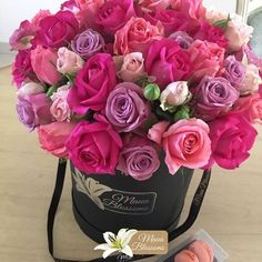 My favorite rose colour is the deep pink... Pink roses symbolize gratitude, grace, and joy, and they're a much gentler option than red. When you want to tell your best friend how thankful you are for the bond you share,deep pink rosesare a fantastic choice, as they indicate happiness and gratitude.  Why not turn #MondayBlues to #MondayBlooms by sending some Lovingly Arranged Blooms to a friend and let them know you are thinking of them.  #MauaBlossoms #Florist #MidrandFlorist #Florista… Box Roses, Pink Roses, Your Best Friend, Beautiful Flowers, To My Daughter, Bouquet, Told You So, Bloom, Gratitude