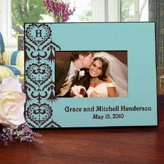 Custom Printed Wedding Picture Frame| Personalized Wedding Frame | GiftsForYouNow.com