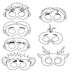 Frozen Printable Character Masks - Color and decorate at the party!