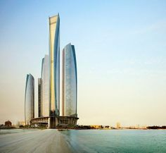 Fancy and luxury - Jumeirah at Etihad Towers Abu Dhabi, United Arab Emirates.  please like and share it to your timeline & friends: http://pinterest.com/travelfoxcom/pins/