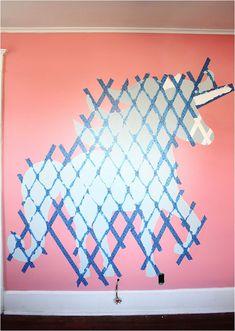 DIY Geometric Unicorn Wall