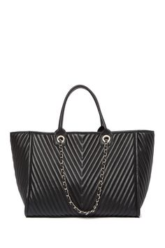 1da45288109 Steve Madden - Tina Chevron Quilted Large Tote Bag is now 49% off. Free  Shipping on orders over  100.